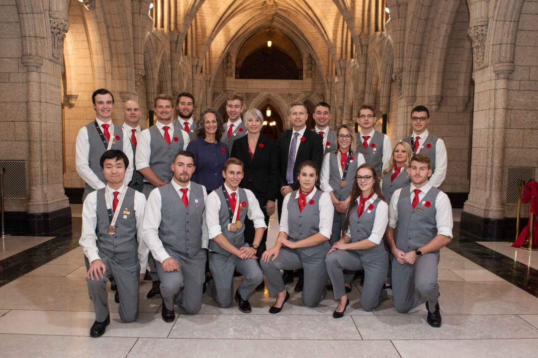 WORLDSKILLS TEAM CANADA 2017 VISITS PARLIAMENT HILL DURING NATIONAL SKILLED TRADES AND TECHNOLOGY WEEK
