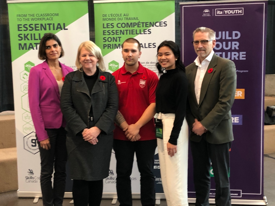 SPECIAL GUESTS AND STUDENTS GATHER AT BRITISH COLUMBIA INSTITUTE OF TECHNOLOGY, BURNABY, B.C. TO LAUNCH THE 15TH NATIONAL SKILLED TRADES AND TECHNOLOGY WEEK