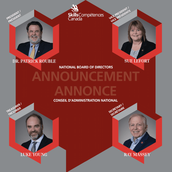 SKILLS/COMPÉTENCES CANADA'S NATIONAL BOARD ELECTS THE EXECUTIVE COMMITTEE FOR 2020-2021